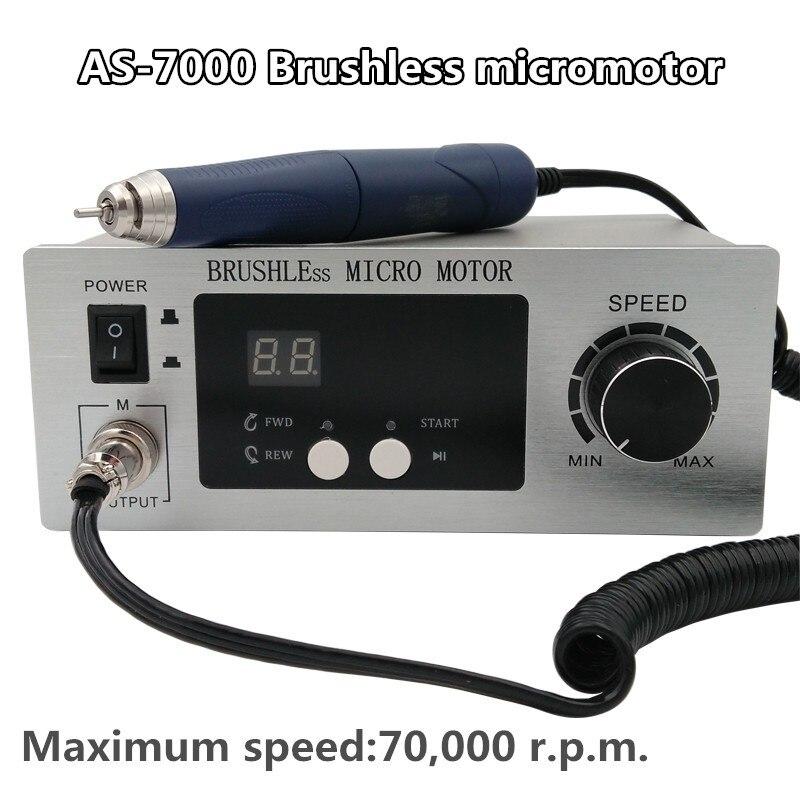 70,000 RPM Non Carbon Brushless Aluminium Shell Dental Micromotor Polishing Unit with lab handpiece dental micro motor
