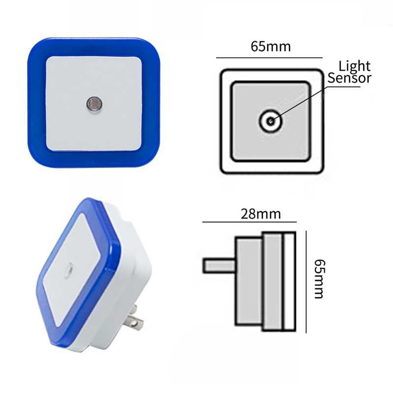 Hoomall управление световым датчиком ночник ЕС/США штекер Авто Мини светодиодный новый квадратный спальня настенный светильник для маленьких детей романтический подарок