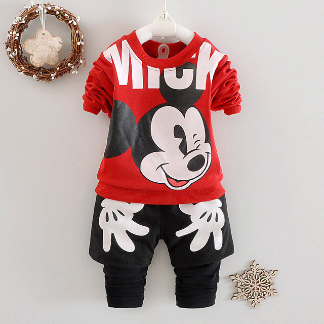 2016 Infant suits boys cartoon of baby girls sets cotton clothing children T Shirt + Pants 2Pcs sports casual sets free shipping