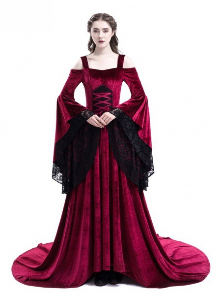 Imperial Halloween Vampire Cosplay Palace Costume Middle Age Christmas Long Dress Adult Party Stage Costume Drop Ship