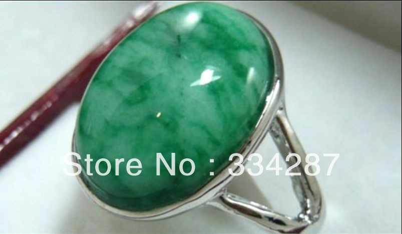 ที่สวยงามสีเขียว jades 18KGP แหวนหยก