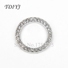 TDIYJ 10pcs New Arrival 22mm Round Crystals Floating Window Plates Silver fit 30mm Glass Memory Locket Jewelry Pendants(China)