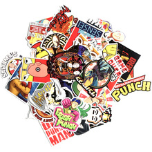 50pcs ONE PUNCH MAN cartoon paster funny anime decals scrapbooking diy stickers decoration phone waterproof accessory