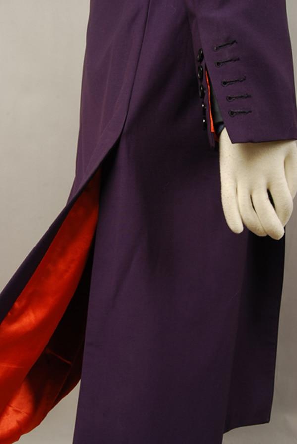 Batman Dark Knight Joker Paarse wol Trenchcoat voor volwassen mannen - Carnavalskostuums - Foto 5
