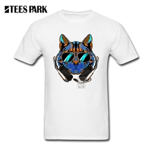Streetwear Custom Made T-shirt Bar T Shirts DJ Crazy Cat Round Neck Short Sleeve Rock T Shirt New High Quality Men Fun Tops TP06