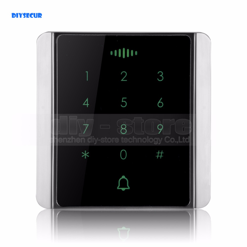DIYSECUR 125KHz RFID Card Reader Touch Panel Backlight Password Keypad for Access Control System Kit C86 waterproof touch keypad card reader for rfid access control system card reader with wg26 for home security f1688a