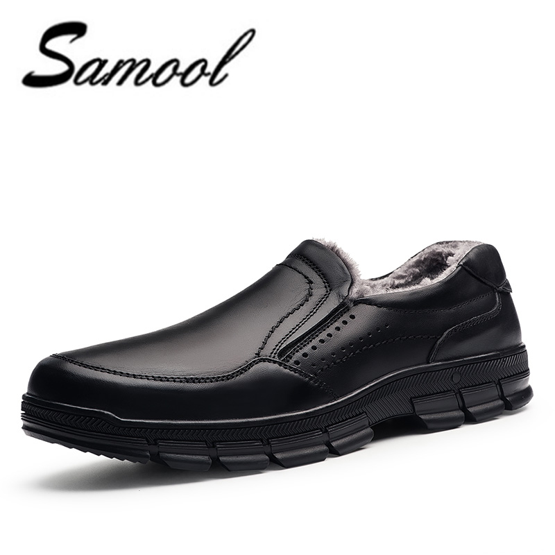 Winter Men's Loafers Genuine Leather Slip on Shoes Men Casual Driving Boat Flats Business Dress Shoes Plus Size:38-47 XX4 discount 2017 men velvet loafers genuine leather slip on rivets flat casual shoes driving mocassin wedding party shoes plus size