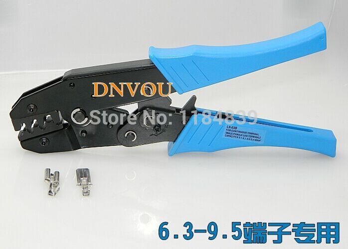 Tab 6.3mm ,7.8 mm 9.5mm Width Terminals Crimping Tool Plier Crimper LX03B mini small ferrules tool crimper plier for crimping cable end sleeves from 0 25 2 5mm2