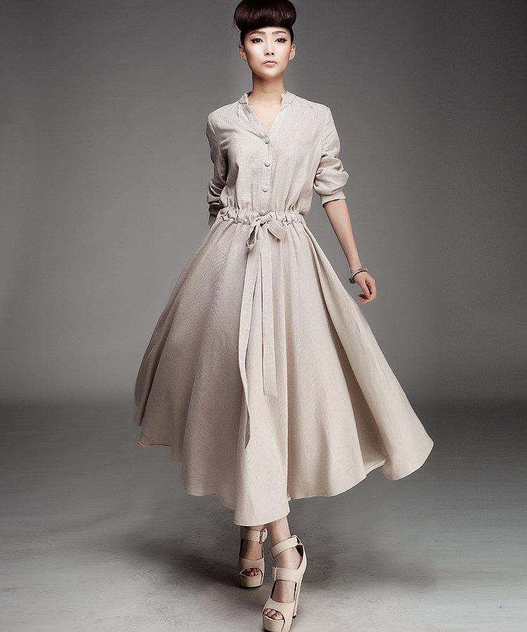 D127 cream color 2015 new high quality women's custom made ...
