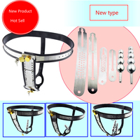 4 Kind Free Combination Stainless Steel Female Underwear Chastity Belt T type Chastity lock Virginity pants Adult Game,