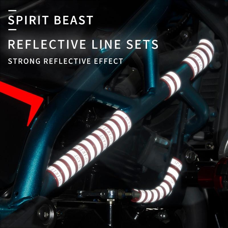 Spirit Beast Motorcycle Motorbike ATV Bike Scooter Reflective Strip Motocross Warning  Accessories