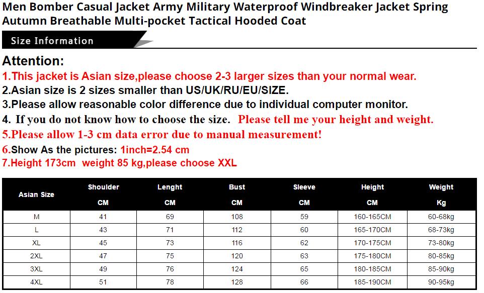 HTB1zQw8aYr1gK0jSZFD7629yVXae 2019 Bomber Jacket Men Autumn Winter Multi-pocket Waterproof Military tactical Jacket Cap Windbreaker Men Coat Outdoor stormwear