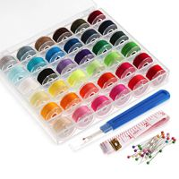 YHYS 36Pcs Bobbins and Sewing Thread with Case for Singer Brother Janome Babylock Janome Kenmore Machine