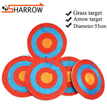 1pc 55cm Grass Target 4-10cm Thickness Straw Board Bow And Arrow Shooting Darts Catapult Props Archery Accessories