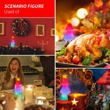 Christmas Tree Color Bulb Crystal Salt Light New Strange Creative USB Gift Base Flashing Lighting Night  Party