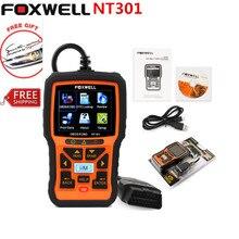 Универсальный OBD2 Автоматический Сканер Foxwell NT301 Авто Диагностический Инструмент Сканер Двигателя Неисправностей Code Reader с O2 датчик Же Как AL519