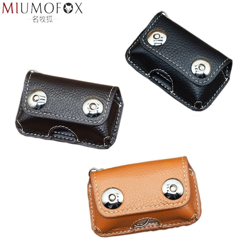 Retro Genuine Cow Leather Men's Car Key Holder 2020 New Keys Wallet Magnetic Snap Key Case Housekeeper Men Keychain High Quality