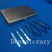 7pcs/Set Titanium Microsurgery Ophthalmic Equipment Surgical Instrument with case