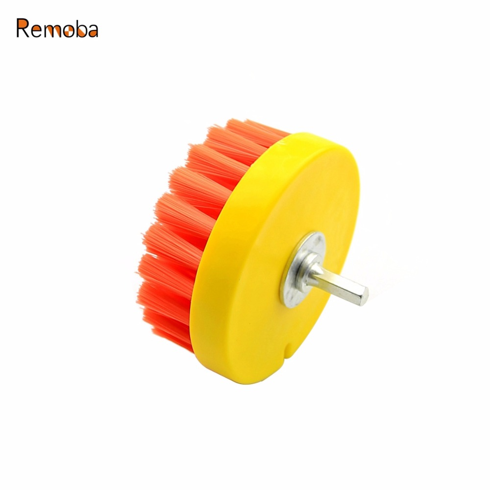 Dia. 110mm Power Scrub Drill Brush for Cleaning Stone Mable Ceramic tile Wooden floor Plastic Thick carpet Thick cloth 1pcs lot j112y imitation of brass wire brush for cleaning and polishing wooden brush diy using high quality on sale