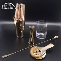 5pcs Cocktail Shaker Bar Set stainless steel Cocktail Mixer Set Bar Shaker Set Bartender Gifts Party Tool