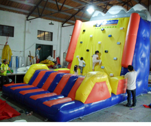 2017 PVC commercial grade inflatable climbing wall /inflatable sports game for kids and adults /factory customized game недорого