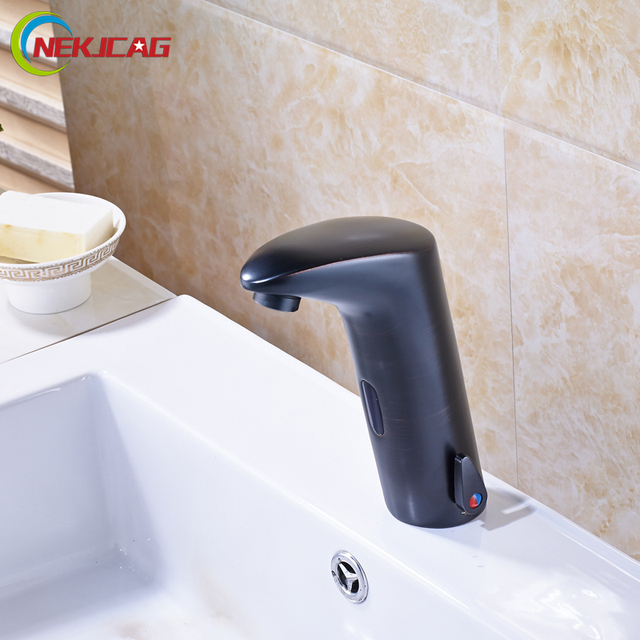 Luxury Single Handle Hot and Cold Water Sense Faucet Automatic ...