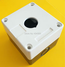 5pcs 22mm control switch box with 1hole  white colour