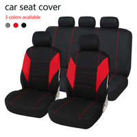 Dewtreetali Universal Automobile Seat Cover Car Seat Cover Polyester Full Set Car Seat Protector Auto Accessories Car Styling