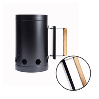 Outdoor Barbecue Charcoal Lead Burning Light Tube Barbecue Chimney Starter Charcoal Grill Steel Rapid Quick Fire Lighter Outdoor