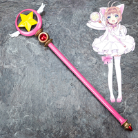 Anime CARDCAPTOR SAKURA Card Captor Sakura Birdhead Star Magic Stick Wand Staves Cosplay Accessorie Porp
