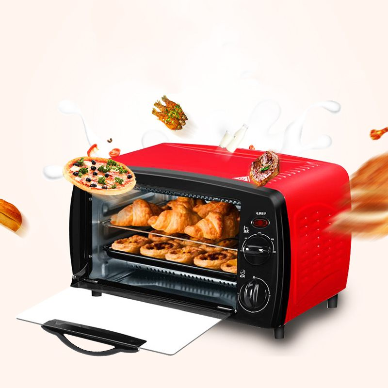 12L Household Mini Intelligent Timing Baking Home Life Electric Oven Kitchen Bread Toaster Electric Oven Bread Baking Machine
