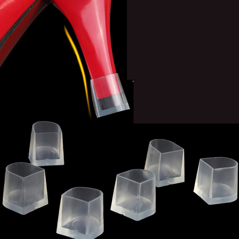 USHINE Two Pairs High Heel Protector Covers Heel Stoppers Non-slip Silicone For Wedding Shoes Latin Ballroom Dance Shoes Woman