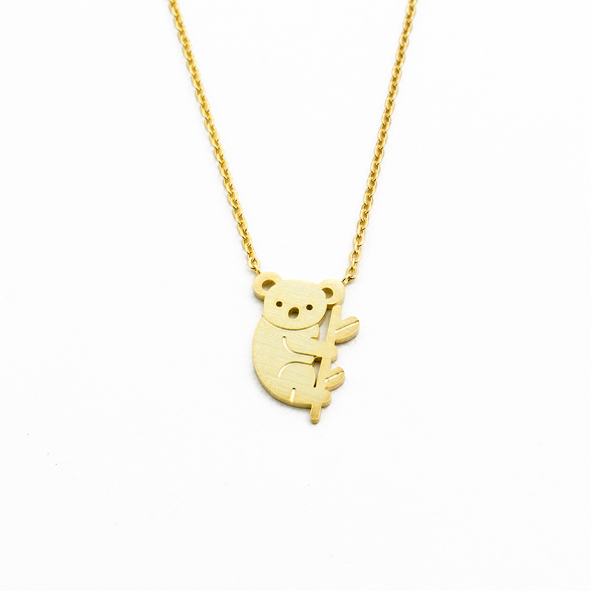 Jewellery & Watches Good Simsimi Koala Birth Stone Women Choker Necklace Stainless Steel Pendant Jewelry Rolo Chains Kolye Female Gift Necklaces 12pcs Sale Price