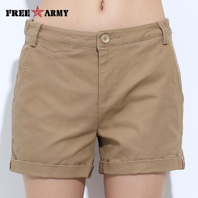 FREEARMY Mini Women's Sexy Short Shorts Summer Slim Hot Casual Shorts Girls Military Cotton Shorts 4 Colors Plus Size Female 3