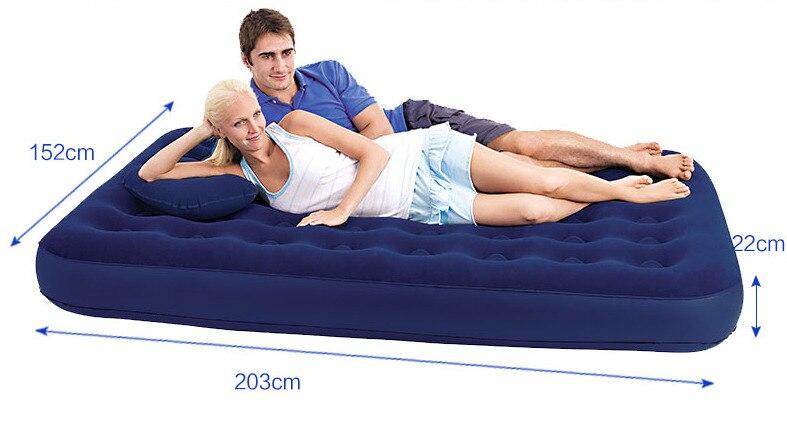67555 bestway rainha tamanho 203x152x22cm reuniram cama de ar 80 x 60 x 8 5 rapida