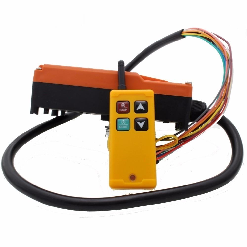 Industrial Wireless Radio remote controller Switch for crane 1 receiver+ 1 transmitter AC220V 110V 380V 36V DC12V 24VIndustrial Wireless Radio remote controller Switch for crane 1 receiver+ 1 transmitter AC220V 110V 380V 36V DC12V 24V