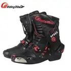 Новый Riding Tribe скорость мотоботы микрофибра кожа мотоцикл гонки сапоги ботинки для мотокросса обувь A010