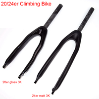 Newest 20 24 Inch Climbing Bike Trial 3K Full Carbon Fibre Bicycle Front Forks Disc Brake