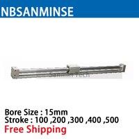 CY3R 15 мм диаметр Размеры пневматические муфтой бесштоковый SMC подобные Запчасти пневматические Запчасти сжатия воздуха цилиндр Sanmin