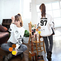 Bts suga v HARAJUKU women's outerwear fashion o-neck casual sweatshirt bts logo