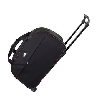 6162453bc638 Непромокаемые повседневные дорожные сумки ручной клади Сумка-бомбер черные мужские  дорожные сумки на колесах
