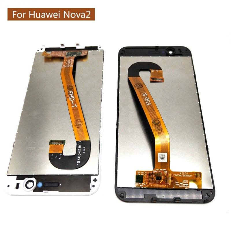 Pour Huawei Nova 2 Nova2 LCD écran tactile numériseur assemblée avec cadre pour Nova 2 LCD affichage + cadre écran tactile panneau