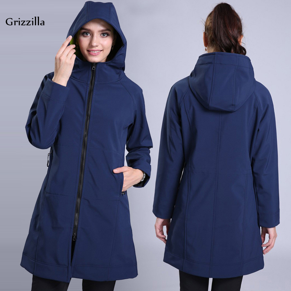 Grizzilla Women Winter Jacket Medium-Long Windproof Outdoor Hiking Jackets Women's Thermal Waterproof Climbing Sports Coat