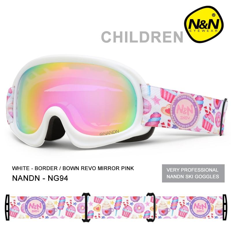 Детские лыжные очки, двухслойные линзы, противозапотевающие, ультрафиолетовые, для мальчиков и девочек, лыжные очки