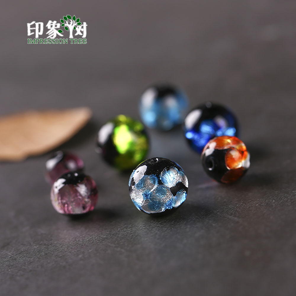 Radient 12mm 10pcs Sands Powder Handmade Lampwork Glazed Beads Transparent Japanese Crystal Round Spacer Beads Diy Jewelry Makings 1604 Beads Beads & Jewelry Making