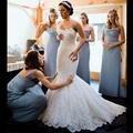 Venda quente Plus Size Vestidos de Casamento 2016 Sexy Mangas Backless Querida Sereia Capela Trem Vestido de Noiva Vestidos de Casamento