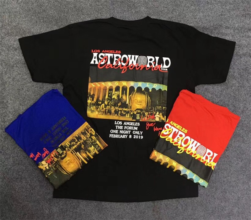 963aa5a02118 19SS Top Newest Summer Travis Scott astroworld hip hop men women Los  Angeles Short sleeve ASTROWORLD kanye west t shirt
