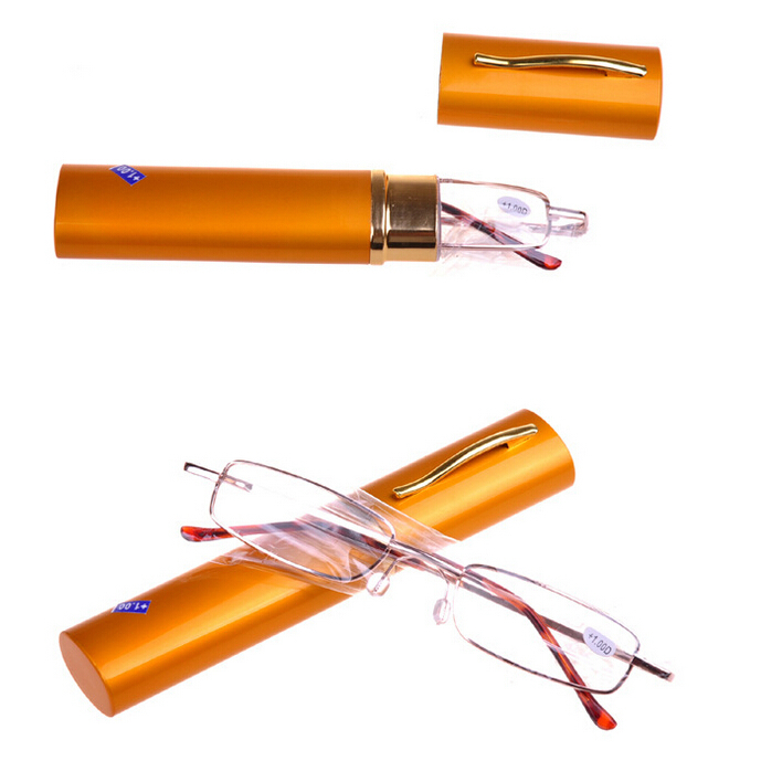 2015 Fashion Pen Holder Reading Glasses Men Women Diopter +1.00 +1.50 +2.00 +2.50 +3.00 +3.50 +4.00 Ultra Light Reading Glasses