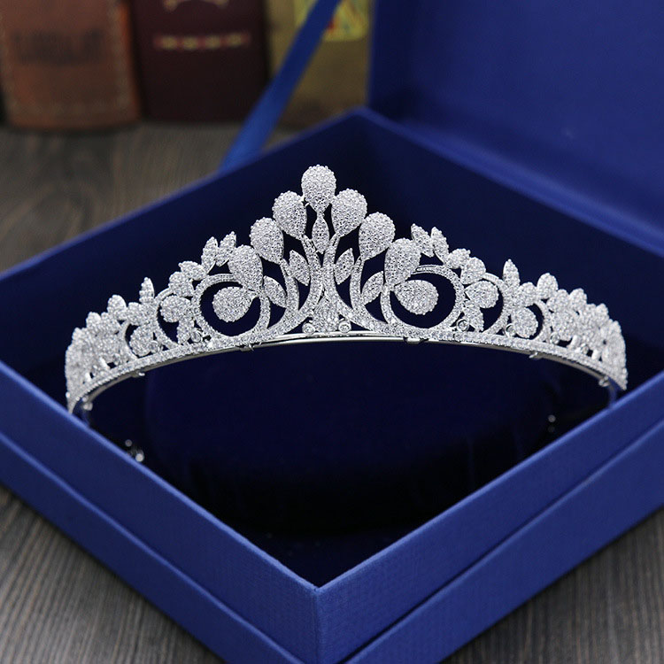 Gorgeous Stunning Wedding Cubic Zircon Tiara Bridal CZ Crown Queen Princess Pageant Party Headpiece Bridesmaids Hair Accessories