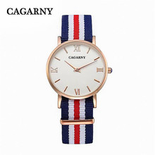36MM Luxury brand women fashion casual nylon Thin rose gold Rome wristwatches ladies high quality dress gift watches waterproof